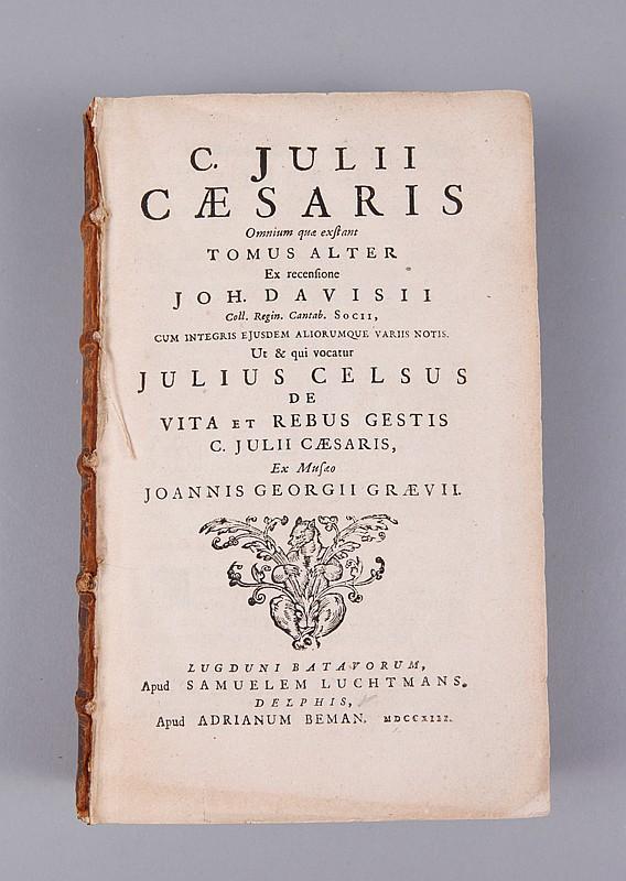 C. Julii Caesaris 17th Century Book