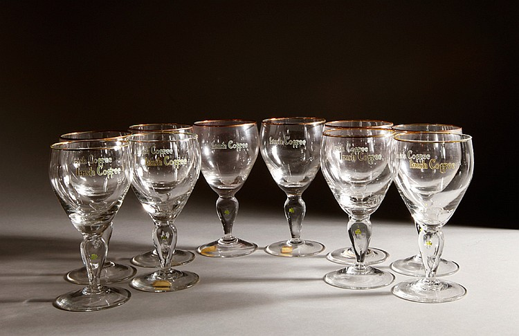 10 Waterford Crystal Irish Coffee Goblets