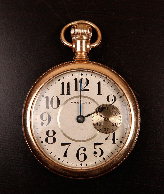 Antique Hamilton Gold Filled Pocket Watch