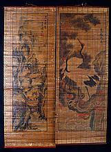 2 Chinese Prints on Bamboo