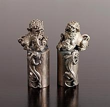 Pair of Chinese Metal Seals