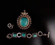 2 Turquoise Bracelet & Pendant