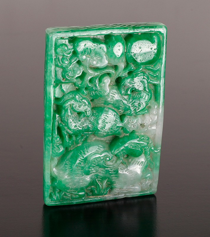 Chinese Carved Jade Plaque