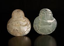 Pair of Chinese Carved Jade Pendants