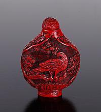 Chinese Cinnabar Style Snuff Bottle
