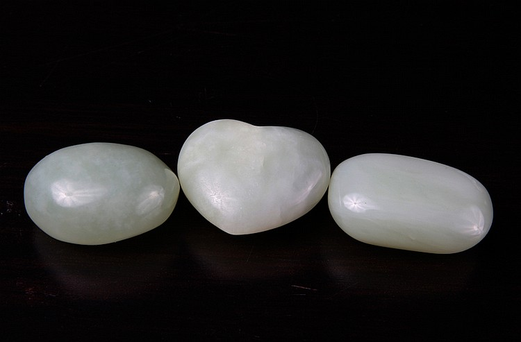 3 Chinese Jade Pebbles