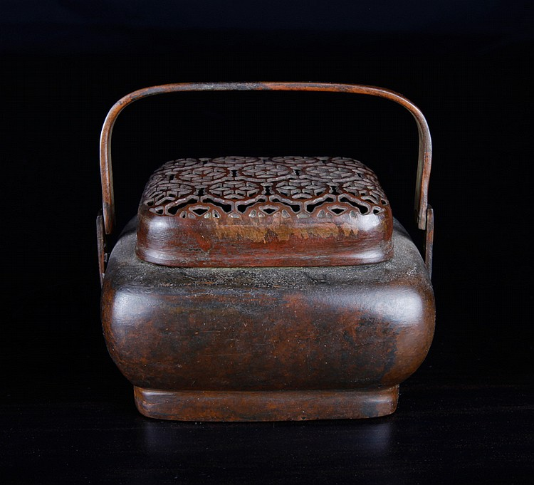 Chinese Signed Bronze Hand Warmer