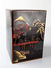 Vintage Japanese Metal Tea Box