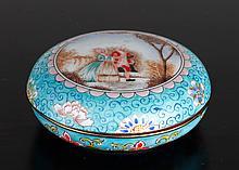 Chinese Enameled Ink Paste Box
