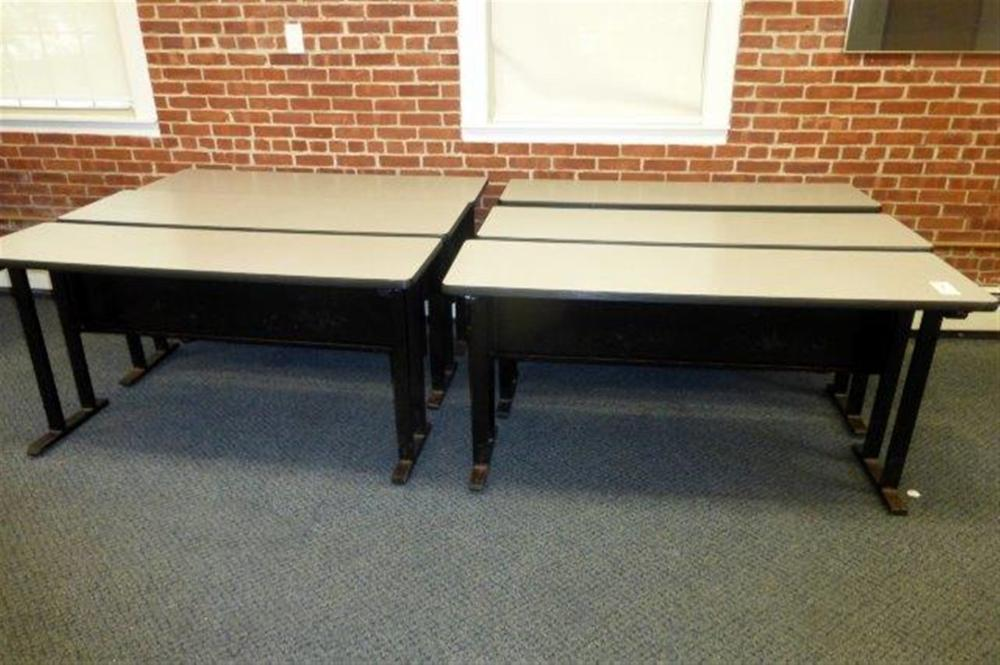 6-5' DESK TABLES W/GREY TOP