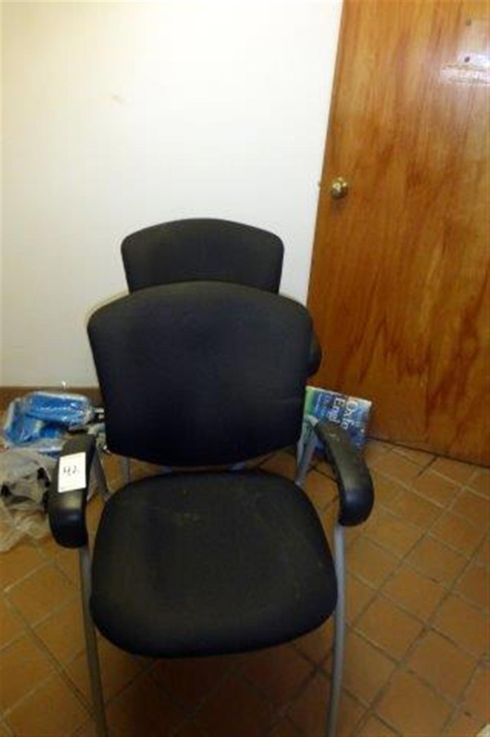 2-BLACK ARM CHAIRS