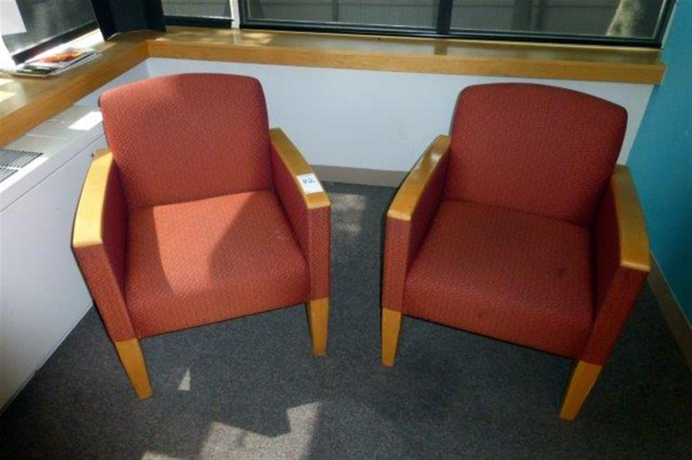 2-OAK/SALAMON ARM CHAIRS