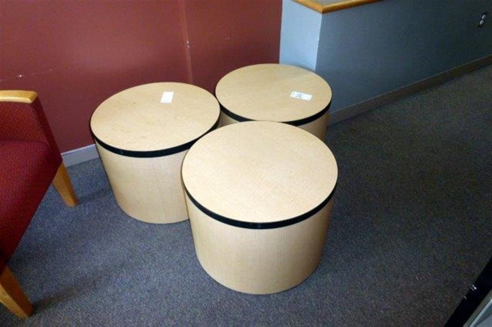 3-MAPLE ROUND END TABLES
