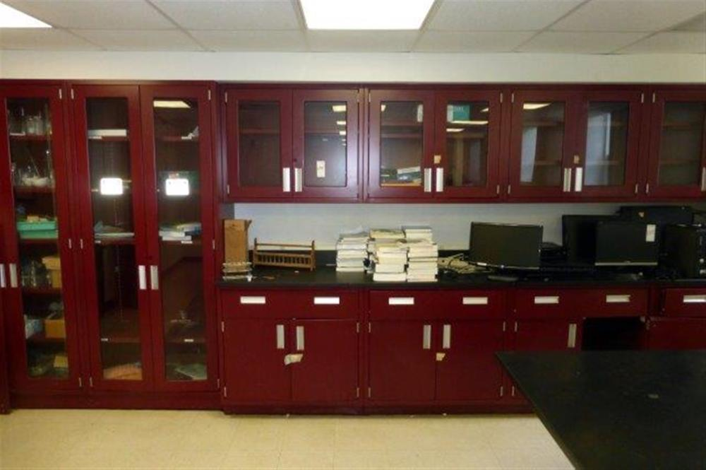 CABINET SET W/4 DOUBLE DR UPPER CABINETS, 2-5DR CABINETS, 4-LOWER CABINETS