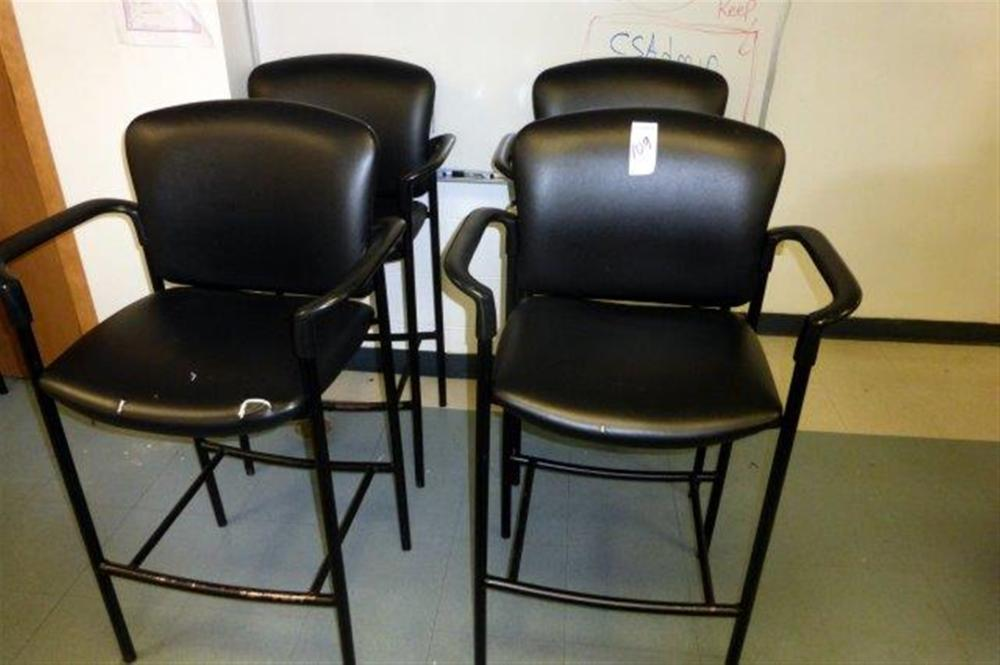 4-DRAFTING STYLE CHAIRS W/ARMS