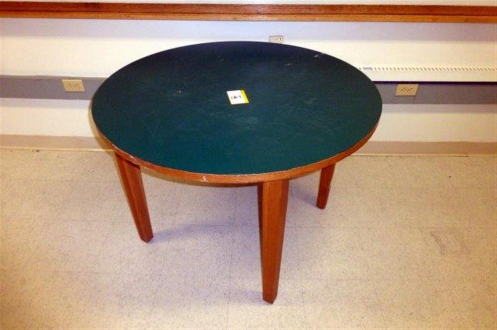 ROUND GREEN TABLE