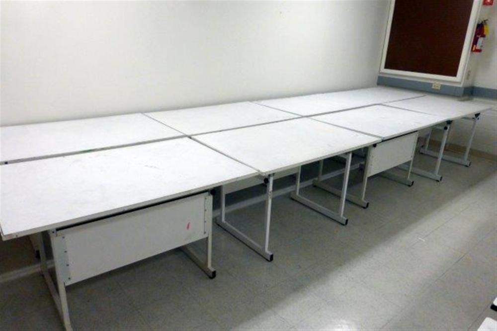 8-ADJUSTABLE DRAFTING TABLES