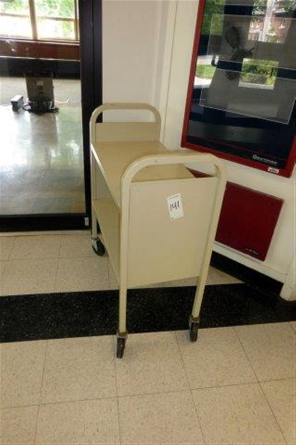 BEIGE LIBRARY CART