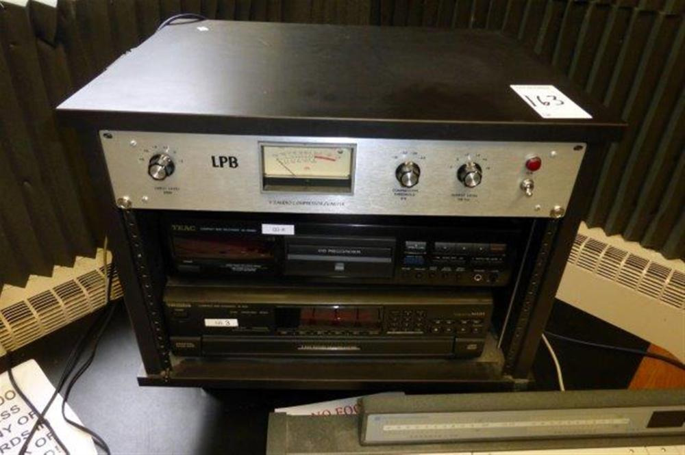 LOT - TEAC CD RECORDER, TECHNICS ROTARY CHANGER, LPB AUDIO  COMPRESSOR
