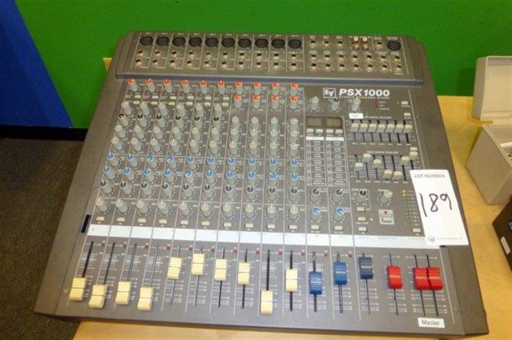 ELECTROSONIC PSX1000 STEREO POWERED MIXER