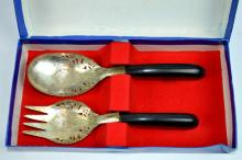 South East Asian Engraved Silver Serving Set
