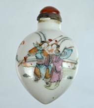 19th C Chinese Enameled Porcelain Snuff Bottle