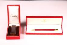 Cartier Cigarette Lighter; Must de Cartier Pen