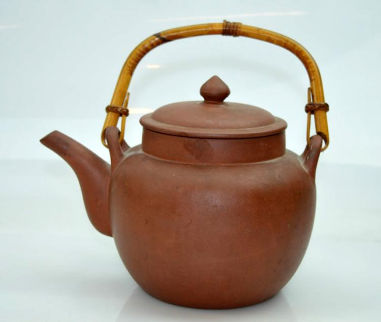 Chinese yixing teapot bamboo swing handle - Bamboo teapot handles ...
