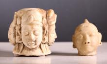 Two South East Asian Marble Carvings