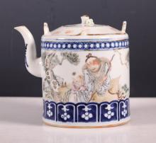 Chinese Late Qing Artist Painted Porcelain Teapot