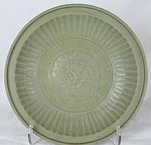 Chinese Longquan Celadon Porcelain Large Plate