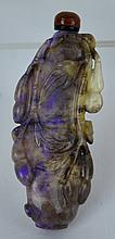Fine Chinese Carved Opal Snuff Bottle