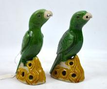 Roger Keverne; Fine Pr Kangxi Porcelain Parrots