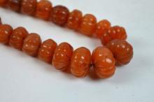 Fine Antique Tibetan Carnelian Beads; 144.5G