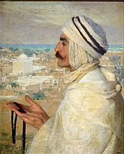 Albert Herter,Oil on Canvas, Portrait Ahmed Gharza