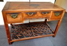 Good Chinese Hardwood 4 Drawer Desk