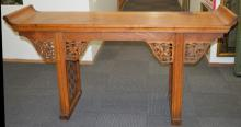 Large Chinese Carved Hardwood Altar Table