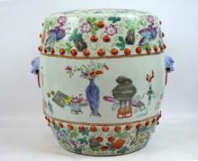 Rare 19thC Chinese Miniature Porcelain Garden Seat