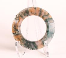 Chinese Moss Agate Archaic Ring