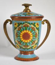 Chinese Cloisonne Covered Cup;