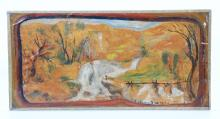 Louis Elshemius; Oil, Dream Landscape dated 1917