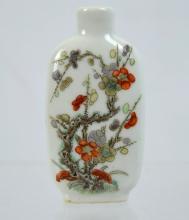 Chinese Famille Verte Enameled Porcelain Snuff