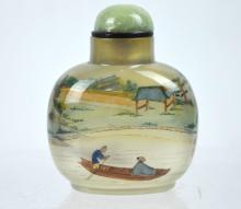 Very Fine Ye Xaofeng Inside-Painted Agate Snuff