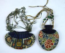 2 - Qing Dynasty Chinese Silk Embroidered Pouches