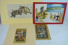 4 - Fine Miniature Paintings; 2 Persian, 2 Indian
