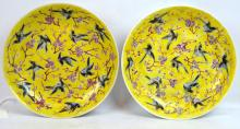 Pr Late Qing Chinese Enameled Porcelain Plates