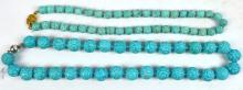 2 - Chinese Carved Turquoise