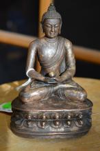16th C. Tibet Gilt Bronze Medicine Buddha