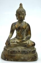 South East Asian Seated Bronze Buddha