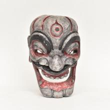 CARVED JAPANESE WOODEN MASK